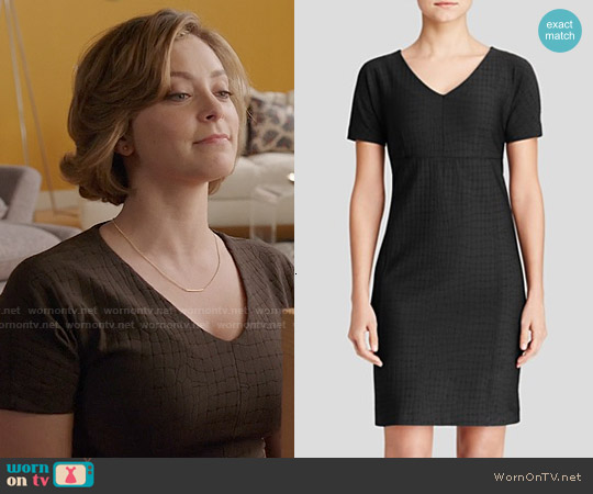 Max Mara 'Fiacre' Croc Jacquard Jersey Dress worn by Rachel Bloom on Crazy Ex-Girlfriend