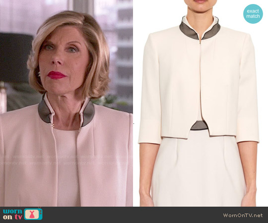 Max Mara Totem Jacket worn by Christine Baranski on The Good Wife