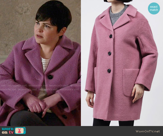 MaxMara Piombo Coat in Pink worn by Ginnifer Goodwin on OUAT