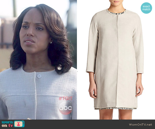 Max Mara Zeo Duster Coat worn by Kerry Washington on Scandal
