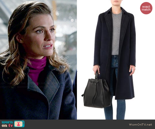 Max Mara Brandy Coat worn by Stana Katic on Castle