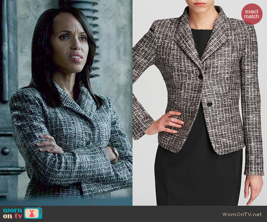 Max Mara 'Calesse' Tweed Jacket worn by Kerry Washington on Scandal
