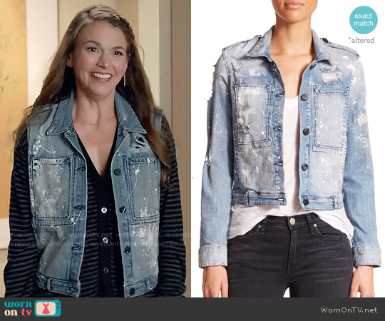 McGuire Agnelli Distressed Denim Jacket worn by Liza Miller on Younger