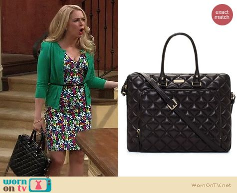 Melissa and Joey Bags: Kate Spade Janine quilted leather laptop bag worn by Melissa Joan Hart