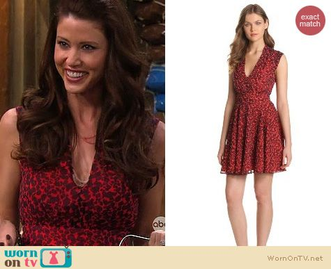 Melissa & Joey Fashion: French Connection Feline Wonder dress worn by Shannon Elizabeth