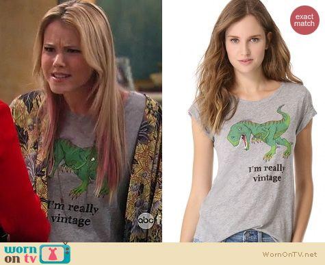 Melissa & Joey Fashion: Patterson J Kincaid I'm really Vintage dinosaur tee worn by Taylor Sprietler