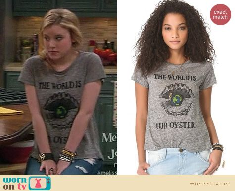 Melissa And Joey Fashion: Patterson J. Kincaid The World is our Oyster McNeal tee worn by Taylor Spreitler
