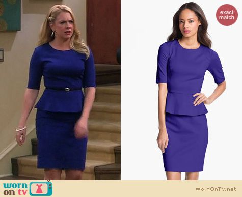 Melissa & Joey Fashion: Trina Turk Trophie Peplum dress worn by Melissa Joan Hart