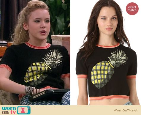 Melissa and Joey Fashion: Vena Cava Pineapple Pullover worn by Taylor Sprietler