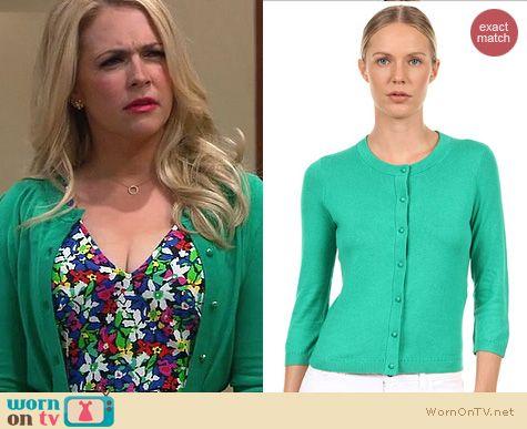 Melissa & Joey Style: Kate Spade Sofia Cardigan in Beryl green worn by Melissa Joan Hart