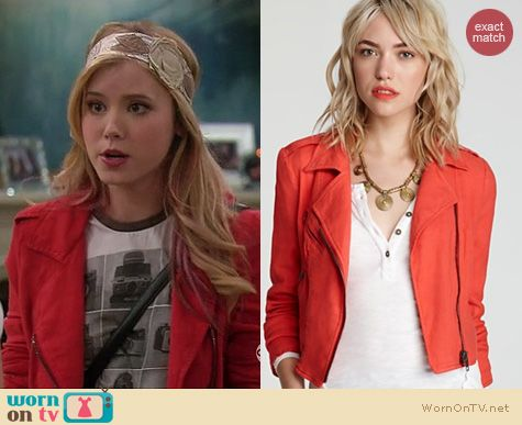 Melissa & Joey Style: Free People linen motorcycle jacket worn by Taylor Spreitler