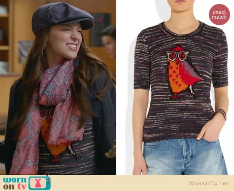 Melissa Benoist Fashion: Isabel Marant Sao Owl Sweater worn on Glee