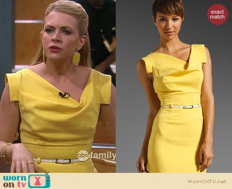Melissa Joan Hart Fashion: Black Halo Jackie O Dress in Sunburst