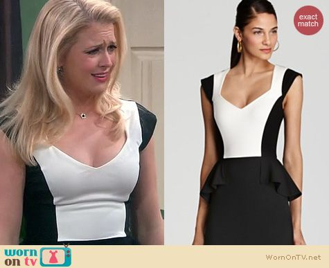 Melissa Joan Hart Fashion: Erin Fetherston Colorblock peplum dress worn on Melissa & Joey