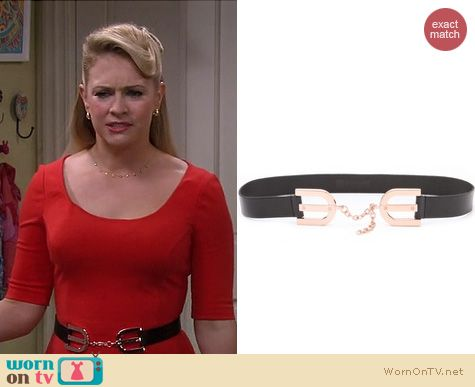 Melissa Joan Hart Fashion: Linea Pelle Avery horseshoe belt