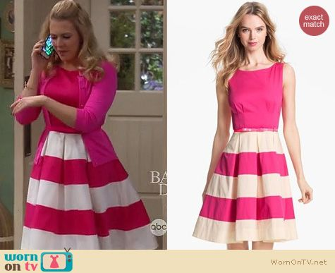 Melissa & Joey Fashion: Kate Spade Celina dress in pink work by Melissa Joan Hart