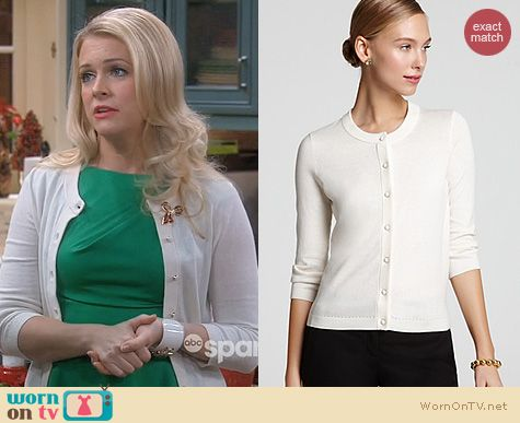 Melissa & Joey Fashion: Kate Spade Sofia Cardigan worn by Melissa Joan Hart
