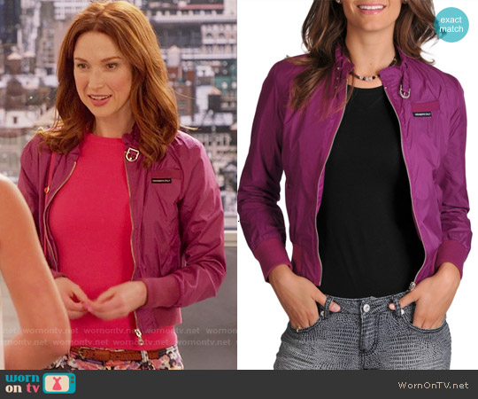 Members Only Iris Jacket worn by Ellie Kemper on Unbreakable Kimmy Schmidt