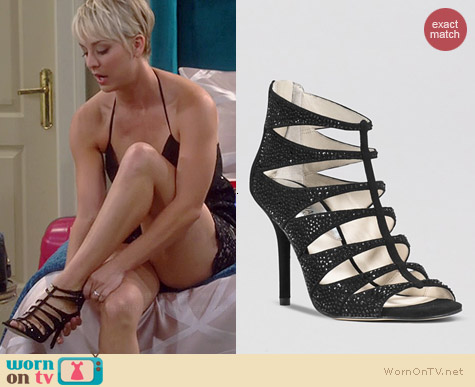 MICHAEL Michael Kors Caged Mavis Sandals worn by Kaley Cuoco on The Big Bang Theory