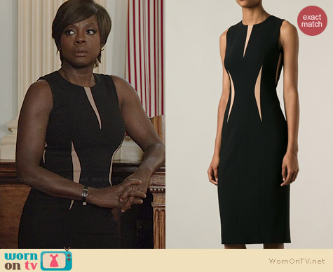 Michael Kors Contrast Panel Bodycon Dress worn by Viola Davis on HTGAWM