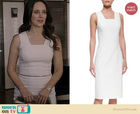 Michael Kors Double-face Stretch Sheath Dress worn by Madeleine Stowe on Revenge