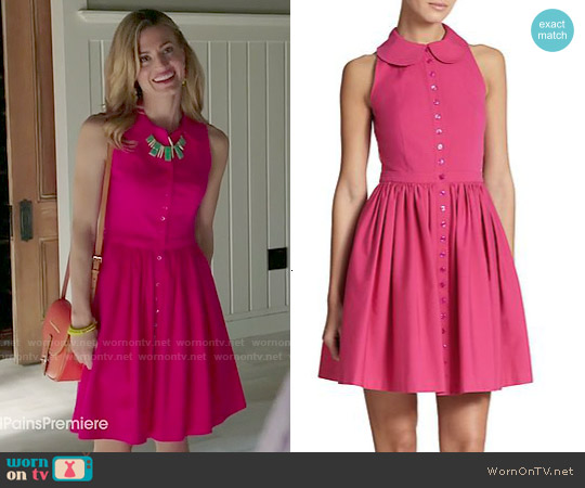 Michael Kors Flared Poplin Shirtdress worn by Brooke D'Orsay on Royal Pains
