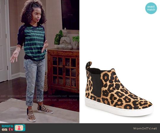 MICHAEL Michael Kors 'Keaton' High Top Sneaker Bootie worn by Zoey Johnson on Blackish
