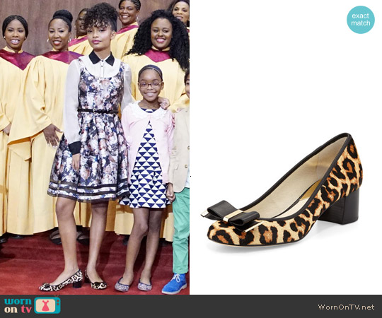 MICHAEL Michael Kors Kiera Bow Pumps worn by Zoey Johnson on Blackish