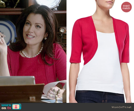Michael Kors Merino Shrug in Azalea worn by Bellamy Young on Scandal