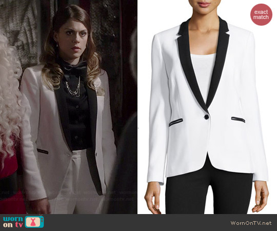 Michael Kors One-Button Tuxedo Jacket worn by Lindsey Shaw on PLL