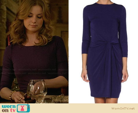 Michael Kors Twist-Front Dress worn by Emily Throne on Revenge