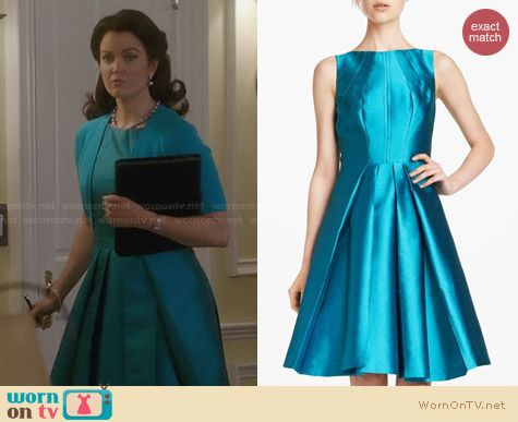 Michael Kors Seamed Wool & Silk Dress worn by Bellamy Young on Scandal