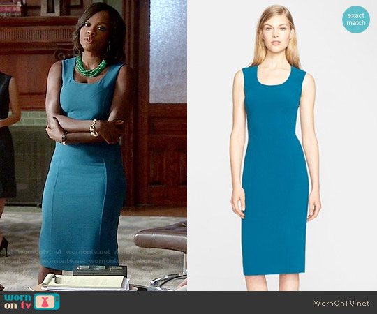 Michael Kors Sleeveless Stretch Wool Crepe Dress worn by Viola Davis on HTGAWM