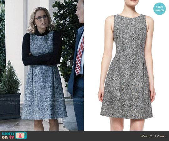 Michael Kors Sleeveless Tweed Bell Dress worn by Téa Leoni on Madam Secretary