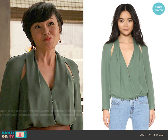 Michelle Mason Blouse with Slit worn by Yunjin Kim on Mistresses