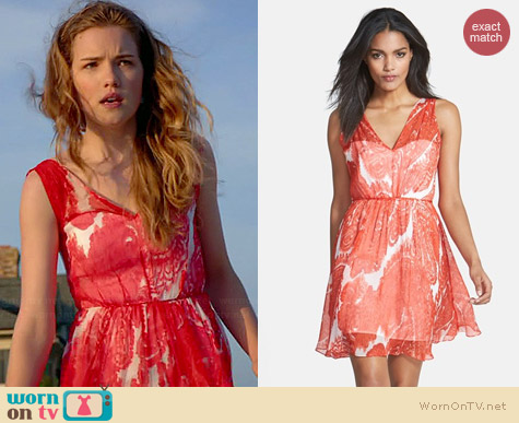 Milly Anna Dress in Poppy worn by Willa Fitzgerald on Royal Pains