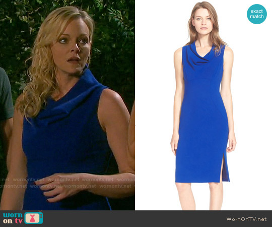 Milly  Cowl Neck Sheath Dress worn by Martha Madison on Days of our Lives