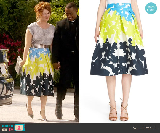 Milly Clarisa Skirt worn by Rebecca Wisocky on Devious Maids