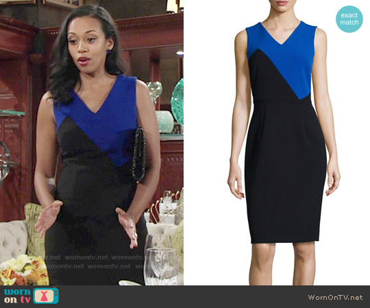 Milly Daphne Dress worn by Mishael Morgan on The Young & the Restless