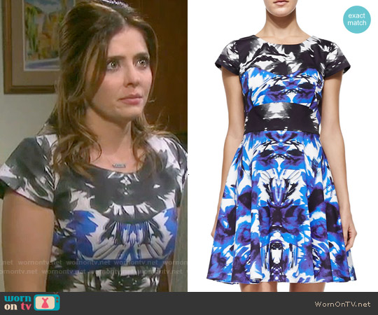 Milly Floral Mirage Dress worn by Jen Lilley on Days of our Lives