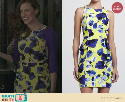 Milly Floral Print Peplum Dress worn by Allison Williams on Girls