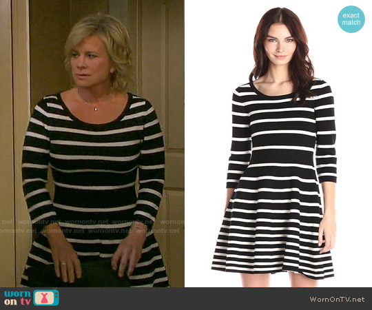 Milly Grading Stripe Dress worn by Mary Beth Evans on Days of our Lives
