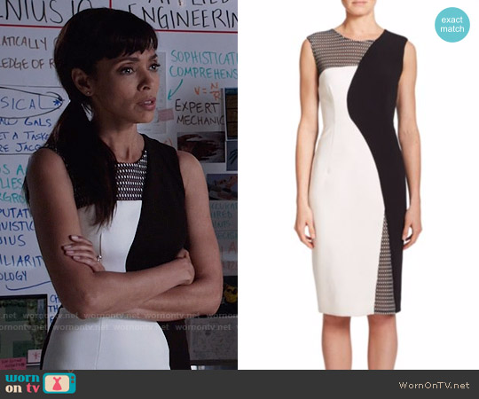 Milly Mesh-Detail Helix Sheath Dress worn by Tamara Taylor on Bones