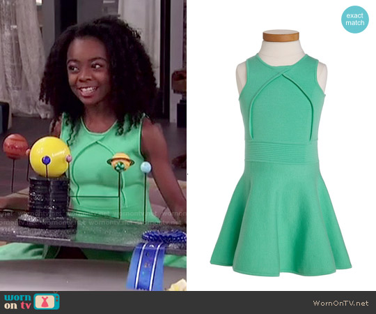 Milly Minis Pleated Flare Dress worn by Skai Jackson on Jessie