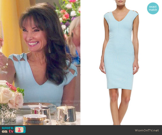 Milly Peek-a-boo Sheath Dress worn by Susan Lucci on Devious Maids