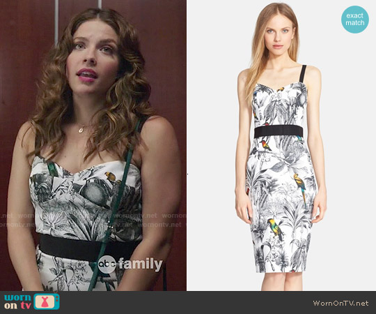 Milly Tropical Print Sheath Dress worn by Paige Spara on Kevin from Work