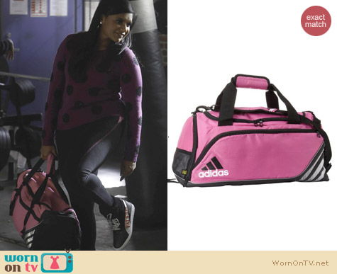 The Mindy Project Bags: Adidas pink team speed duffel bag worn by Mindy Kaling