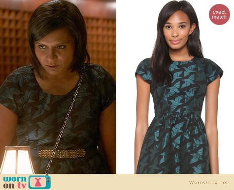 The Mindy Project Fashion: Alice by Temperley Heron dress worn by Mindy Kaling