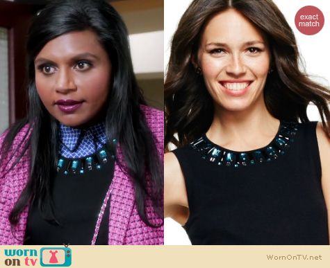 The Mindy Project Fashion: C Wonder Beaded Sleeveless Sweater worn by Mindy Kaling
