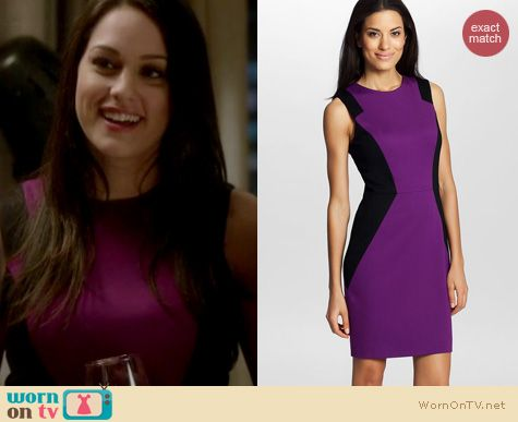 The Mindy Project Fashion: Cynthia Steffe Aubrey colorblock ponte dress worn by Kelen Coleman